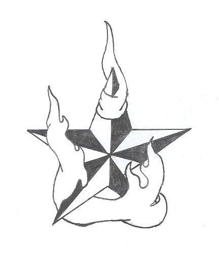 star with flames tattoo designs by brkensilenz on deviantart