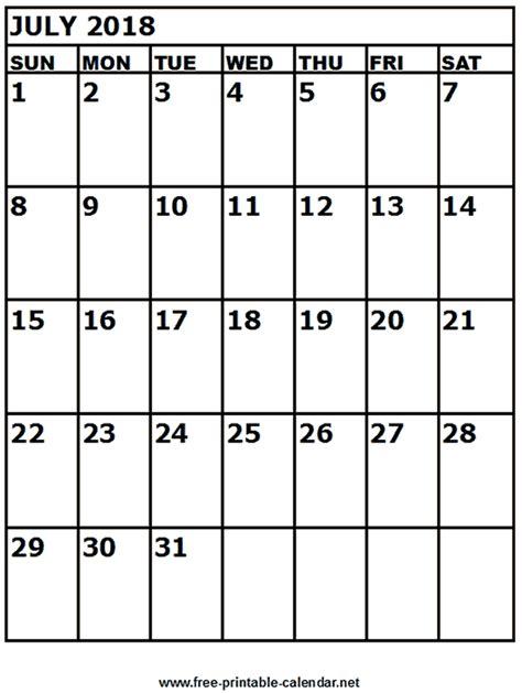 free printable calendar free printable calendar july free printable calendar july 2018