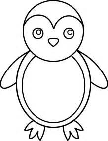 Penguin Clipart Outline by Penguin Line Free Clip