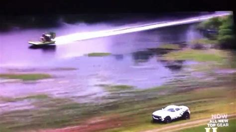 airboat vs car airboat vs rally car on top gear youtube