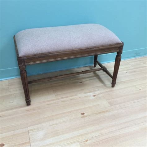 small padded bench small upholstered bench with fluted legs nadeau minneapolis