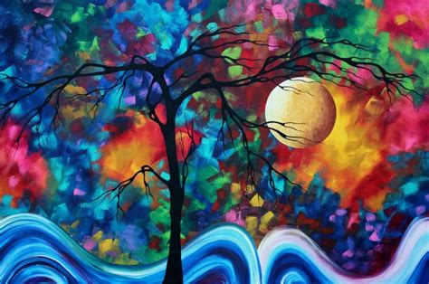 Lukisan Abstrak Ekosyaiful The Moon In Your 17 best images about on abstract abstract paintings and painting on canvas