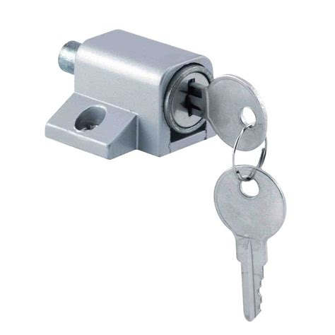 Patio Door Security Locks Security Chrome Keyed Patio Door Lock With Rotating Bolt 5140 The Home Depot