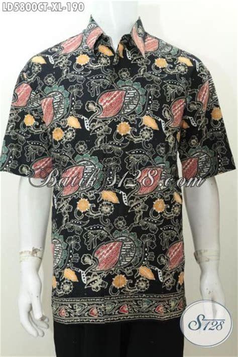 Baju Batik Pria Slimfit Batik Mewah Harga Terjangkau Kwalitas Dijamin baju kemeja batik motif bunga dasar hitam elegan busana