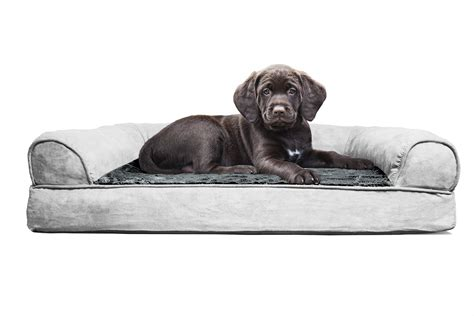 orthopedic dog sofa bed furhaven plush suede orthopedic sofa dog bed pet bed ebay