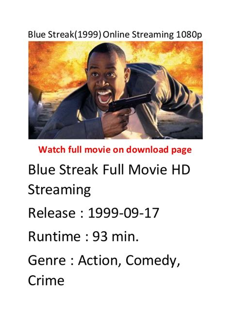 streaming film action comedy blue streak 1999 online streaming 1080p english action