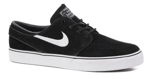 nike sb zoom stefan janoski og skate shoes black white