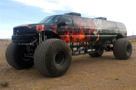monster trucks own this stretched ford excursion monster truck for 1 million