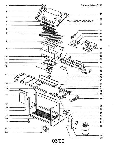 weber genesis parts diagram size