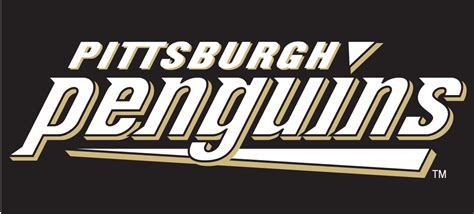 Hockey Wall Stickers pittsburgh penguins 2002 2009 wordmark logo diy iron on
