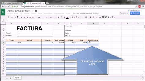 modelos de facturas 2015 modelo de factura google drive youtube