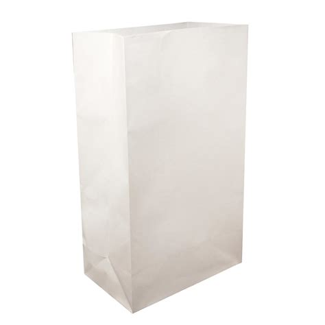 lumabase white flame resistant luminaria bags 100 count