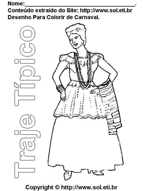 Desenho de Carnaval Roupa Tipica Baiana - Grátis Para