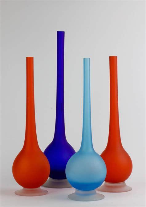 Colorful Vases For Sale Set Of Four Colorful Carlo Italian Satinato Murano