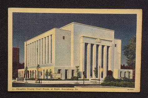 Dauphin County Court Records 1940s Dauphin County Court House At Harrisburg Pa Dauphin Co Postcard
