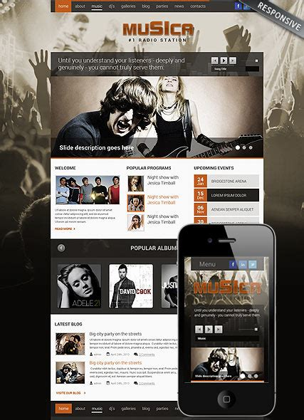 music theme wordpress template id 300111699 from