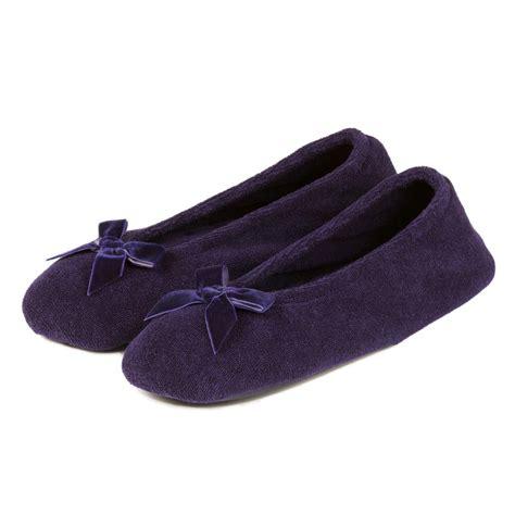 isotoner slipper isotoner terry ballerina slippers ebay