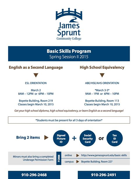 basic skills flyer creative