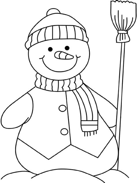 free coloring pages of snowman and gingerbread man