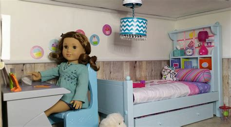 how to make an american doll room with ag fan my finished doll room