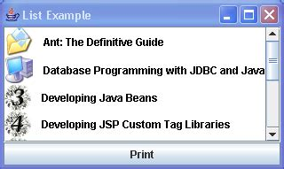 list of swing components select all the items list 171 swing jfc 171 java