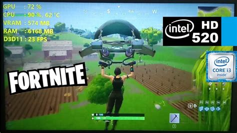 fortnite intel hd 520 i3 6100u fortnite battle royale low settings