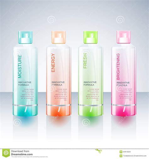 Packaging Design Template For Body Care Bottle Stock Vector Illustration Of Medical Package Bottle Design Template