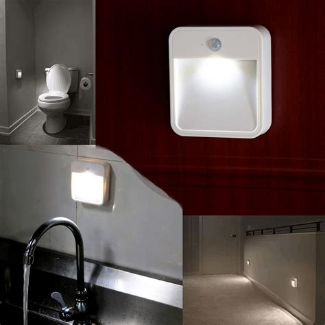 battery operated lights for bathrooms battery powered motion sensor led light portable wide