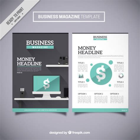 business magazine template business magazine template vector free