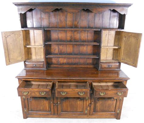 Cupboard Dresser by Dresser Large Oak Storage Sideboard Cupboard With Rack
