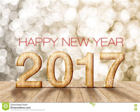 new year wood happy new year 2017 wood number in perspective room with