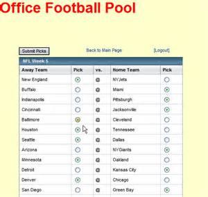 Weekly Football Pool Template by Weekly Football Picks Template Screenshots Php Em