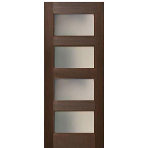 4 Panel Interior Doors Escon Doors Mv6004ae Mahogany Shaker Style 4 Panel Acid Etch Glass Interior Door At Doors4home