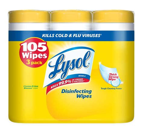 lysol disinfecting wipes value pack lemon and