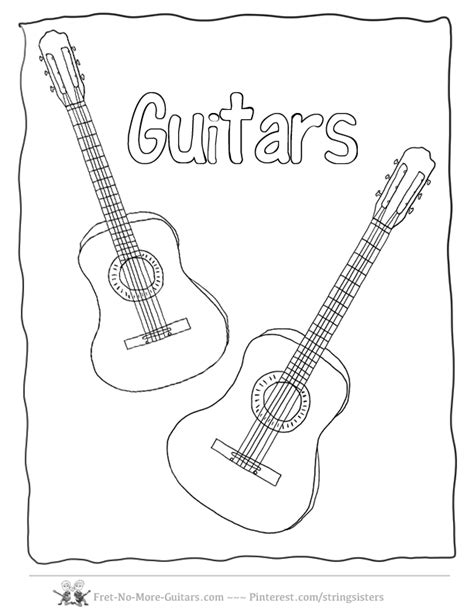 acoustic guitar coloring page guitar coloring pages acoustic guitar music collection of