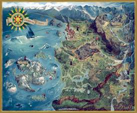 The Witcher World Map by The Witcher 3 World Map Russian Witcher3