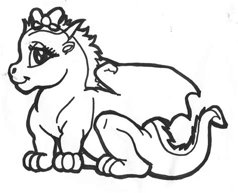coloring pages of cute dragons simple chibi coloring dragon coloring pages