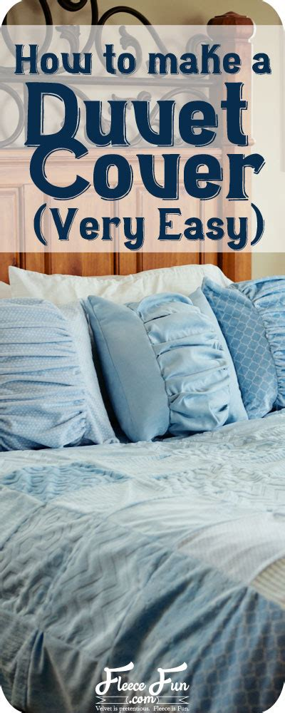 how to sew a comforter make a duvet cover easy fleece fun