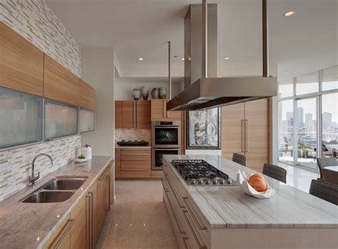 Design For Kitchen Island Countertops Ideas Kitchen Modern Luxury Kitchen With Rich Wood Cabinets And Curved Breakfast Bar Countertop