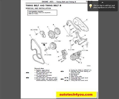 Mitsubishi Pajero Montero 2001 2003 Service Manual