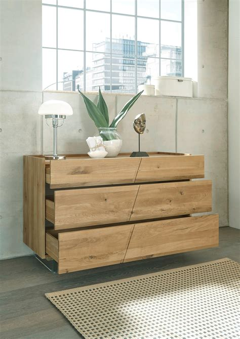 cassettiere legno grezzo cassettiera moderna 3 cassetti legno massello rovere
