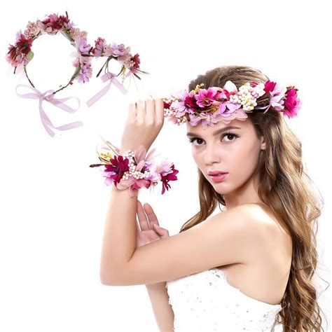 wedding hair accessories divisoria wedding flower wreath bridal headband wrist