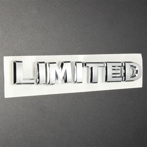 3d Auto Decals by Limited Metal 3d Auto Car Motor Truck Sticker Decal Badge