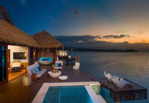 sandals south coast opens booking on overwater bungalows 12 new over water bungalows in jamaica 187 best all