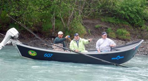 drift boat salmon river guided kasilof river king salmon fishing drifting on the