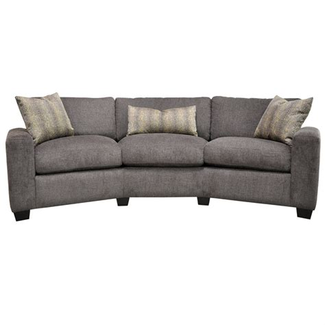 Blake Conversation Sofa by Omnia Leather   USA Made   Free