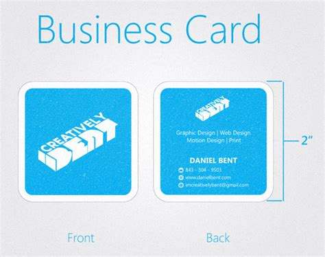 square business card size template 38 creative square business card designs