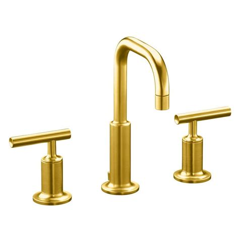 Kohler Purist Bathroom Faucet by Shop Kohler Purist Vibrant Modern Brushed Gold 1 Handle