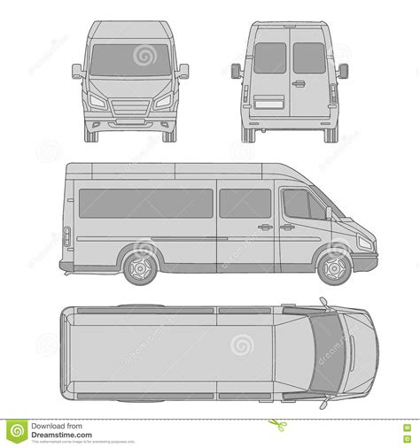 vehicle vector templates car template commercial vehicle delivery blueprint