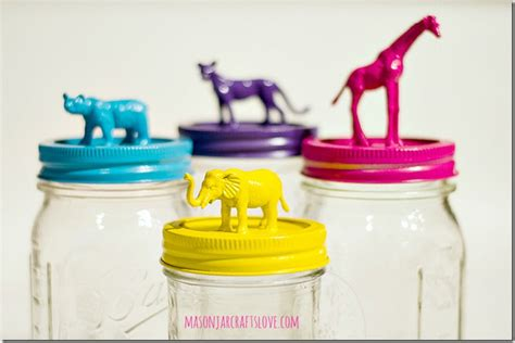 cute diy animal jars perfect to organize a children s diy home sweet home diy tutorials to organize toys